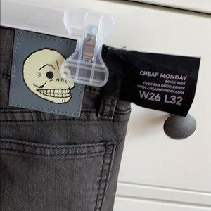 Cheap Monday Gray Skinny Jeans NWT